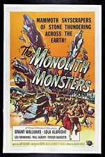 MONOLITH MONSTERS ✯ CineMasterpieces VINTAGE ORIGINAL MOVIE POSTER 1957 SCI FI