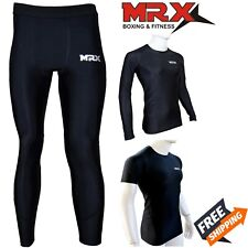 MRX Compression Thermal Base Layer Long Shirt Tops Pants Training Workout GYM