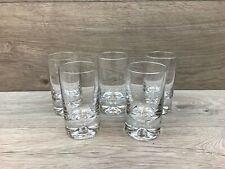 5 x  Heavy Thick Base Glass Tumblers / Shot Glasses - 105mm Tall