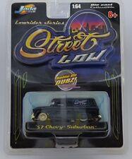 Jada Toys Street Low '57 Chevy Suburban Black Lowrider Series