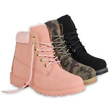Damen Worker Boots Warm Gefütterte Stiefeletten Outdoor 819880 Schuhe