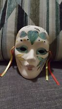 Mardi Gras New Orleans Wall Mask Porcelain Ceramic