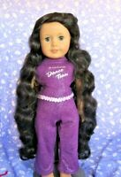 Monique S. 114-A Black Full Adj. Cap Doll Wig Size 10-11 American Girl Sz Wavy