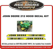 JOHN DEERE 212 Replacement Hood Decal set  Reproductions 210 214 216