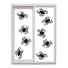 Halloween spider vinyl stickers X 12  Window Decorations Spooky Party Kids wall