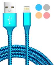 1M 2M 3M Lightning Ladekabel Daten USB Kabel Stoff für Apple iPhone X 8 7 6 6S 5