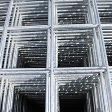 "4x Welded Wire Mesh Panels 1.2x2.4m Galvanised 4x8ft Steel Sheet Metal 2"" Holes"