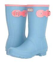 HUNTER Rain BOOTS Size: 11 New FREE SHIPPING Short Blue / Pink