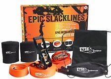 EPIC SLACKLINES - 50ft x 2in Intro Series Pro-Grade COMPLETE Slackline Kit