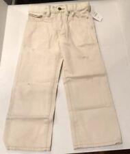 Gap Kids Adjustable Waist Bootcut Distressed Pants Size 5 Beige