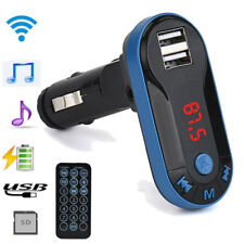 Bluetooth Wireless Fm Transmitter Mp3 Player Handsfree Car Kit Remote Blue