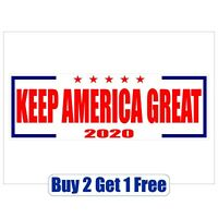 Keep America Great - DONALD TRUMP 2020 - Bumper Sticker - MAGA -GoGostickers
