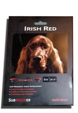 AudioQuest Irish Red 8M Subwoofer Cable RCAs. Authorized Dealer!