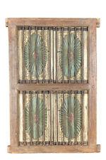Indien 1940 großes Fenster Doppelflügel aus Holz und Metall Rajasthan Einbau Dek
