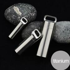 Titanium Alloy Waterproof Storage Pill Box Bottle Seal Capsule Pendant Nec L0Z1