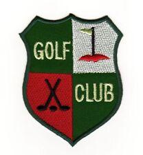 ae07 Golf Club Logo Aufnäher Bügelbild Patch Flicken Sport Freizeit 6,2 x 8,0 cm