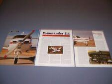 VINTAGE..AERO COMMANDER 112...HISTORY/PHOTOS/DETAILS/SPECS..RARE! (551N)