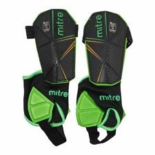 Mitre Delta Ankle Protect Shin Guards (Black/Green/Yellow)
