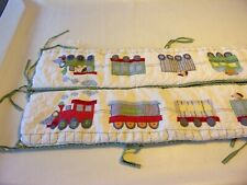 Whimsical Train Crib Bumper Pad