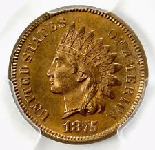 PCGS MS65 RB 1875 INDIAN HEAD CENT