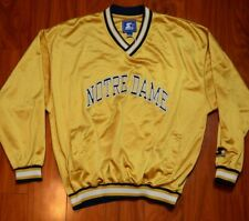 Vintage Starter Notre Dame Warm-Up Pullover Long Sleeve Men's Size Large