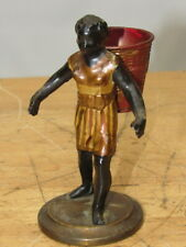 c1920s GIRL HARVESTER METALWARE COLD PAINTED FIGURE RARE 6 INCH STATUE