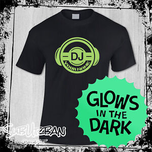 Men's Personalised DJ Logo ADD YOUR NAME Music T Shirt Ibiza House Party #6