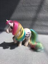 Vintage Hasbro G1 My Little Pony Windy UK Variant Rainbow Unicorn Glitter Symbol