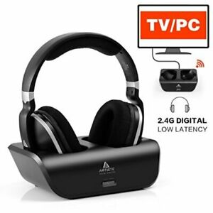 Artiste ADH300 2.4GHz Wi-Fi Digital Stereo TV Headphones with Charging Dock