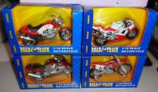 4 Different Maisto ROAD & Track 1:18 Scale Motorcycles New in Box