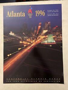 Original Vintage Poster The Athlete 1996 Atlanta Centennial Olympics 90s USA