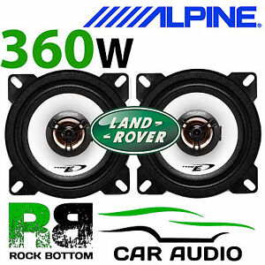 "ALPINE Land Rover Defender 90 4"" 10cm 2 way 360W Dash Replacement Coax Speakers"