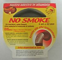 NASTRO/ROTOLO BRUCIATORI CANNE FUMARIE ADESIVO ALLUMINIO BIANCO MT.4 *40 CM NEW