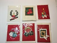 6 Earth-friendly mulberry handmade-paper Christmas winter holiday greeting cards