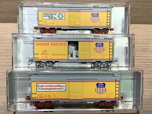 3 N Scale NSE MTL Union Pacific Box Cars UP 2019 Chicago Convention -Generator
