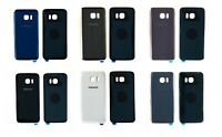 Samsung Galaxy S7 G930F & S7 Edge G935F Back Battery Rear Glass Cover + Adhesive