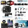 "2"" 4K Ultra HD 16MP frente acción cámara deportes DV Cam WiFi 30m resistente"