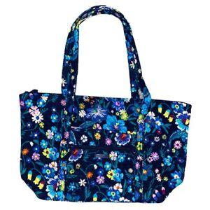 Vera Bradley MOONLIGHT GARDEN Miller Travel Bag XL Tote Blue Floral Purse NWT
