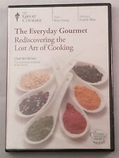 Great Courses The Everyday Gourmet Rediscovering The Lost Art of Cooking 4 DVDs