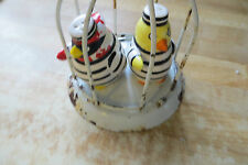 old angry birds in jail cage hand painted Fitz & Floyd in salt&pepper shakers