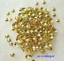 1000  Gold Scalloped Edge Bead Caps 4 MM