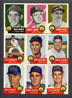 1953 Topps Reprint 1991 Topps Archives Detroit Tigers TEAM SET