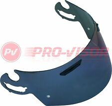 BLUE IRIDIUM VISOR FITS ARAI I-TYPE RX7GP/Axcess II/Chaser V PINLOCK PREPARED