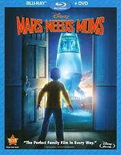 MARS NEEDS MOMS New Sealed Blu-ray + DVD IN ORIGINAL SHRINK WRAP! BRAND NEW!