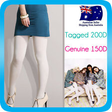 Pantyhose Stocking Hosiery Tights OPAQUE Large Size 150D White