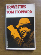 TRAVESTIES a play by Tom Stoppard-  1st PB printing 1975 Grove Evergreen VG