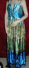 Floral Printed Elegant Spaghetti Straps Long Prom Gown Beautiful Ever-Pretty