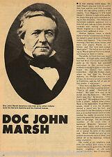 Marsh, Doctor John - Pioneer California Settler+Appleton,Bartelson,Bidwell