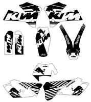 kit pegatinas ktm exc-sx 125-525 2005, 2006, 2007, sticker graphics