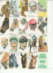 Horse Racing Cards Full set of 20 issued in 1985
